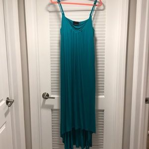 Cynthia Rowley Turquoise Hi Low Maxi Dress